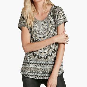Lucky Brand Kaledotile Steel Heather T Shirt  L